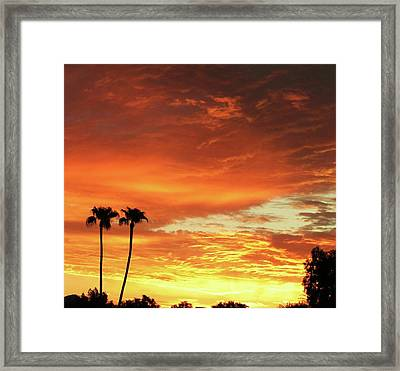Arizona Sunrise 02 Framed Print