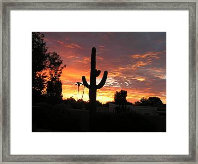 Arizona Sunrise 03 Framed Print