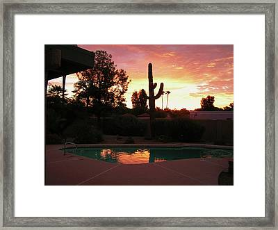 Arizona Sunrise 04 Framed Print