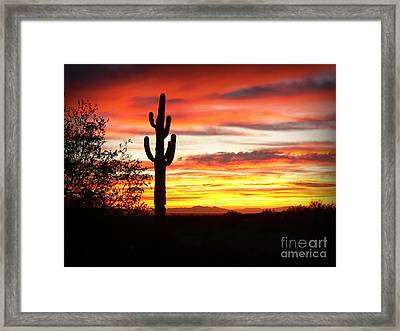 Arizona Sunrise Framed Print