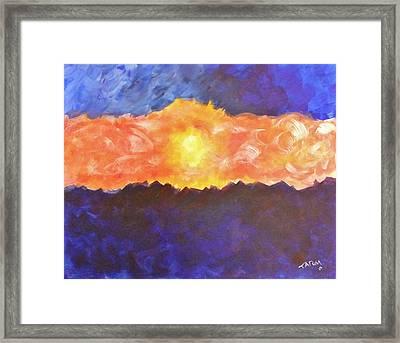 Arizona Sunset Framed Print by Tatum Chestnut