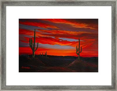 Arizona Sunset Framed Print by Tom McAlpin