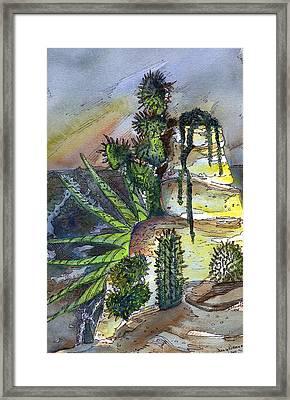 Arizonia Rocks Framed Print by Mindy Newman
