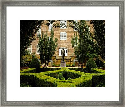 Arkansas Greenery Surrounds The Arkansas Campus Framed Print
