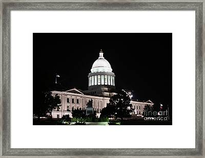 Arkansas State Capital Framed Print by Joe Finney