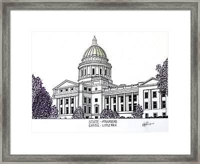 Arkansas State Capitol Framed Print by Frederic Kohli