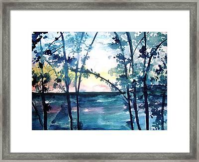 Arkansas Sunset Framed Print by Robin Miller-Bookhout
