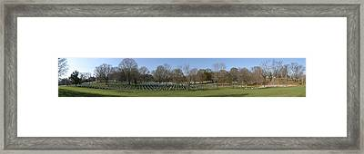 Arlington National Cemetery Panorama 1 Framed Print by Metro DC Photography