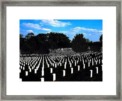 Arlington National Cemetery Framed Print by Valia Bradshaw