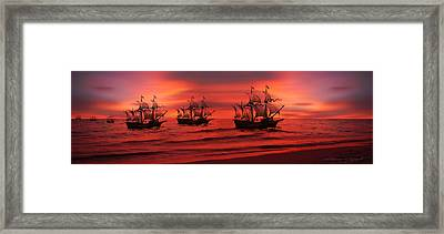 Armada Framed Print by Lourry Legarde