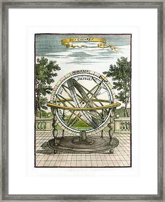 Armillary Sphere, 17th Century Artwork Framed Print