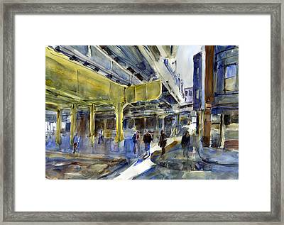 Armitage L Station Framed Print by Gordon France