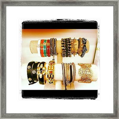 #armparty Of #bracelets @stelladot Framed Print