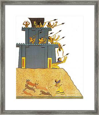 Army Of Ramesses II Attacks Syrian Framed Print by Photo Researchers
