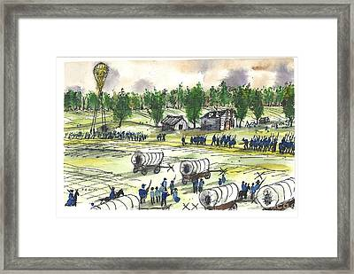 Army Of The Potomac On The Move Framed Print by Patrick Grills
