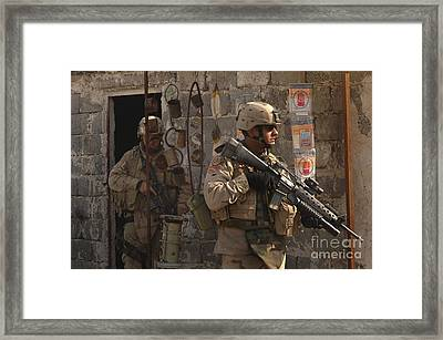 Army Soldiers Keeping An Eye Framed Print by Stocktrek Images