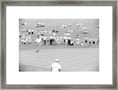 Arnold Palmer Waits At 1964 Us Open At Congressional Country Club Framed Print by Jan W Faul