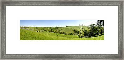 Around Milldale - Panorama Framed Print