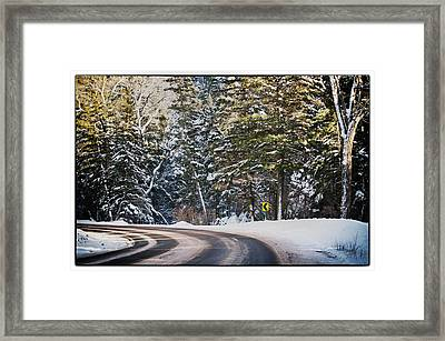 Around The Bend Framed Print by Lisa  Spencer