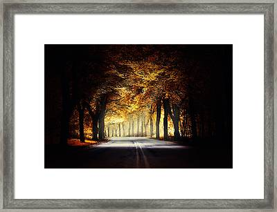 Around The Bend... Framed Print by Marek Czaja