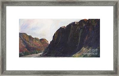 Around The Ridge  Framed Print