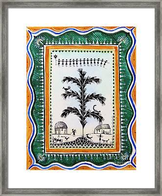 Around The Tree Framed Print by Anjali Vaidya