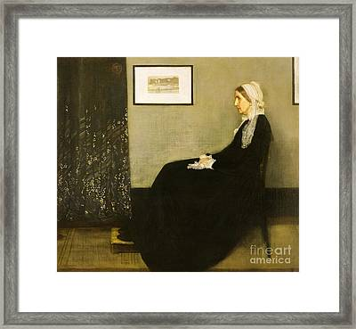 Arrangement In Grey And Black I Framed Print by Pg Reproductions