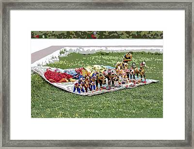 Array Of Puppets Framed Print by Kantilal Patel