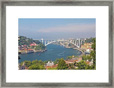 Arrábida Bridge Over River Framed Print by Cmanuel Photography - Portugal