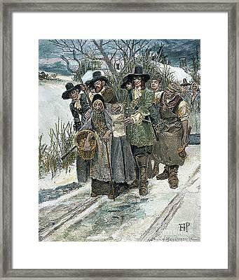 Arresting A Witch Framed Print