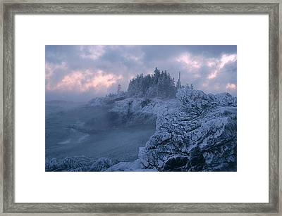 Arrival In The Cold Framed Print