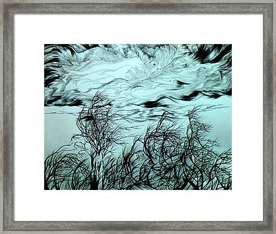 Arrival Of Chinook Framed Print by Anna  Duyunova