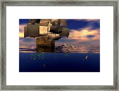 Arrival Of The Pilots Framed Print by Claude McCoy