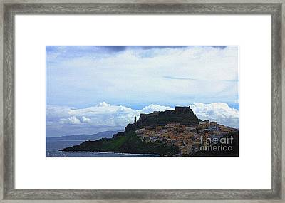 Arriving @castelsardo Framed Print by Mariana Costa Weldon