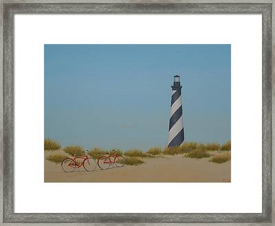 Arriving At Cape Hatteras Framed Print