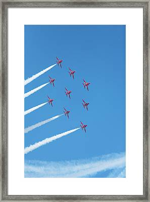 Arrows Round The Bend Framed Print by Paul Cowan