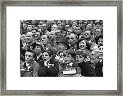 Arsenal Fans Framed Print by George Douglas