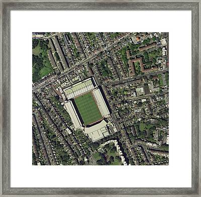 Arsenal's Highbury Stadium, Aerial View Framed Print by Getmapping Plc