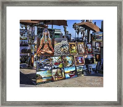 Art 4 Sales Venice Beach Framed Print by Chuck Kuhn