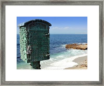 Art And The Ocean Framed Print