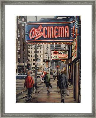 Art Cinema Framed Print by James Guentner