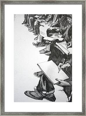 Art Class In Afghanistan Framed Print