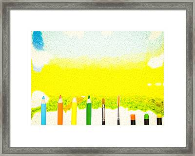 Art Concept Framed Print by Tom Gowanlock