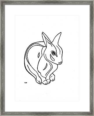 Framed Print featuring the drawing Art Deco Bunny by Katherine Dohnalek