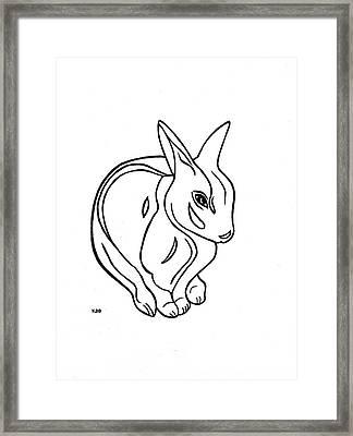 Art Deco Bunny Framed Print