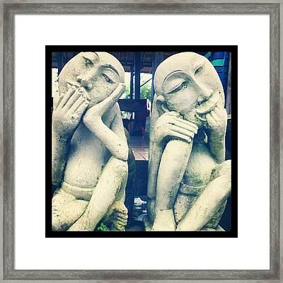 #art #expression #dilema #twin #lol Framed Print