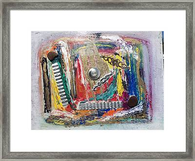 Art In Construction Framed Print by Connie Carleton