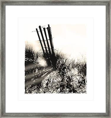 Art In The Sand Series 1 Framed Print by Bob Salo