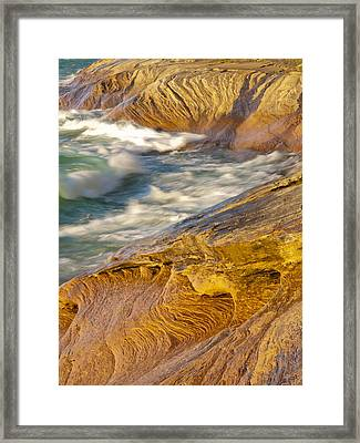 Art In The Shoreline Framed Print by Cindy Lindow
