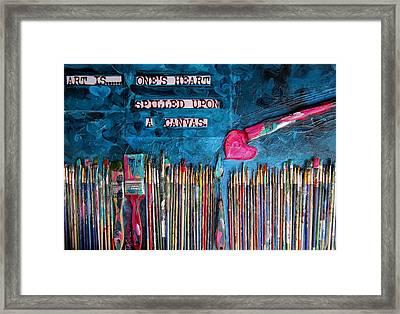 Art Is Blue Version Framed Print by Patti Schermerhorn